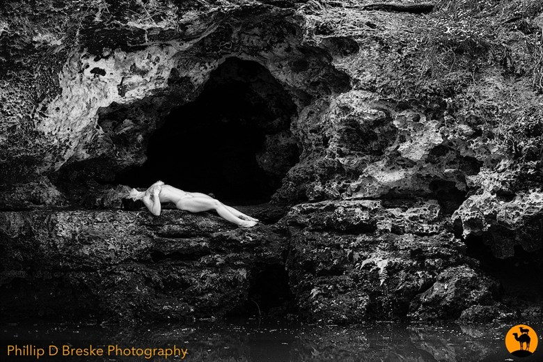 Nude in Scott Spring cave, Ocala  Nature Photo by Photographer Phillip D Breske