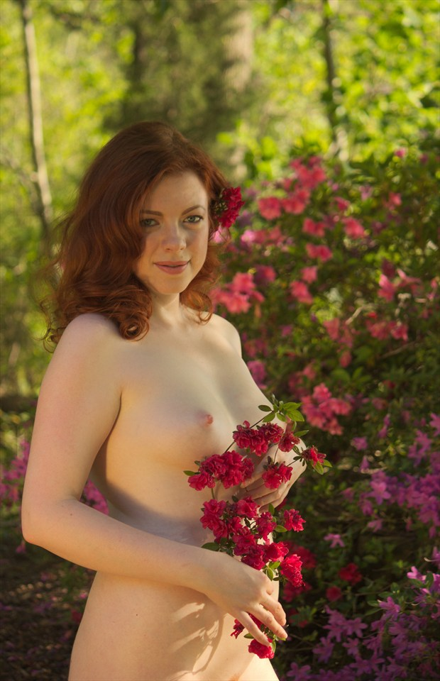 Nude in Spring with Flowers Artistic Nude Photo by Photographer Fred Scholpp Photo