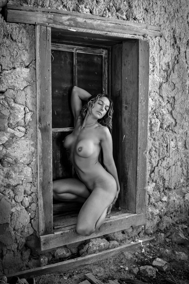 Nude in Window Sill Artistic Nude Photo by Photographer Risen Phoenix