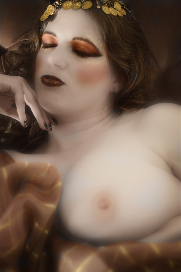 Nude in a Orientalism style Artistic Nude Photo by Photographer Mark Bigelow
