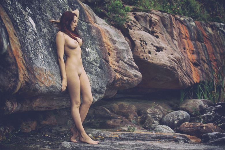 Nude on a ledge Artistic Nude Photo by Photographer John Anthony