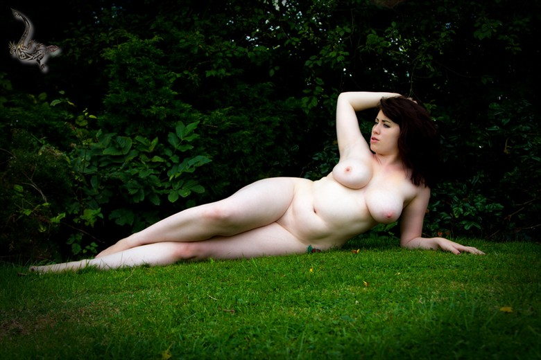 Nude on grass Artistic Nude Photo by Model Vixie V