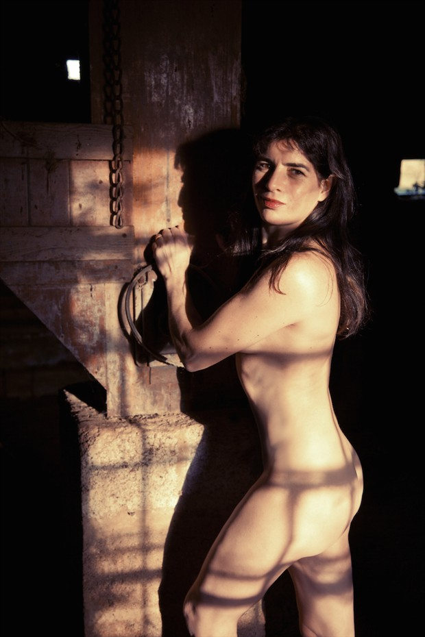 Old Mill door. Artistic Nude Photo by Model Catherine Williams