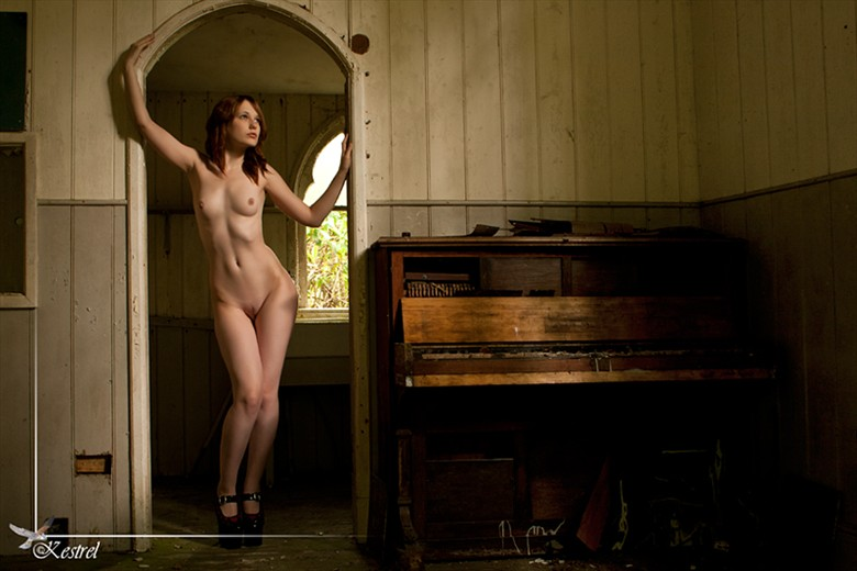 Old Piano Artistic Nude Photo by Photographer Kestrel