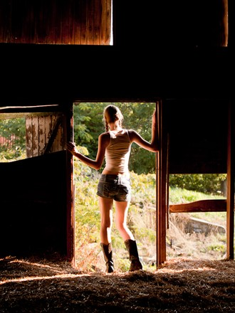 Olivia in Barn Door Fashion Photo by Photographer PhotoDr
