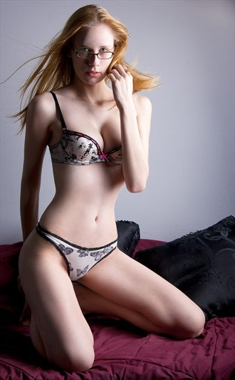 Olivia rocking the glasses Lingerie Photo by Photographer PhotoDr