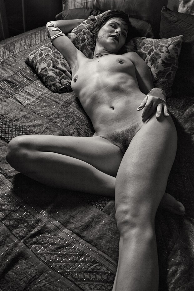 On Her Own Bed Artistic Nude Photo by Photographer GD Scott