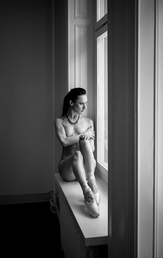 On The Windowsill Artistic Nude Photo by Model Myrtha Meadows