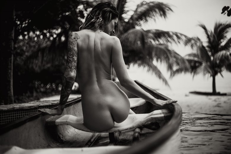 On a Boat Artistic Nude Photo by Model Shaun Tia