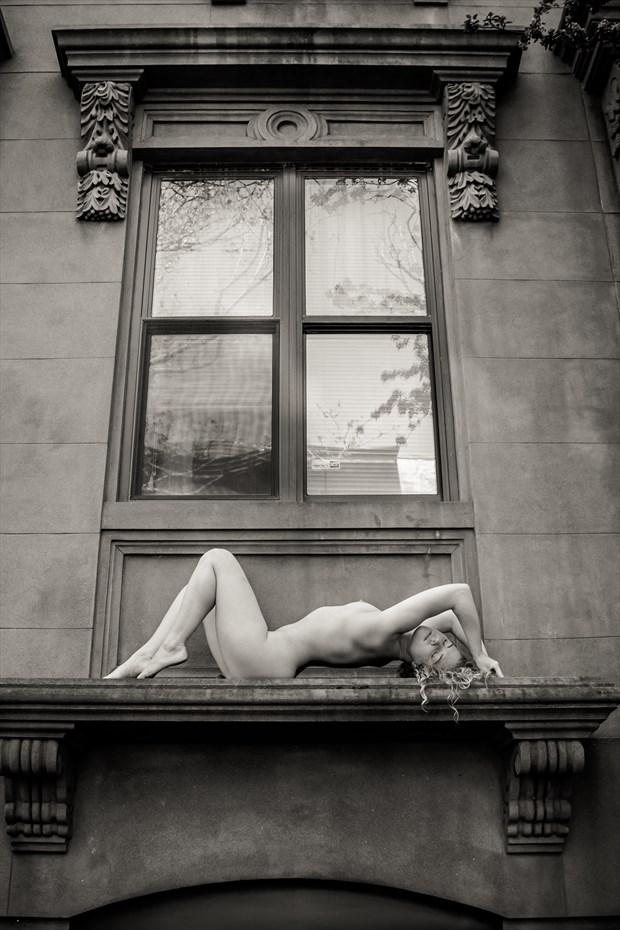 On a Window ledge Brooklyn NY Artistic Nude Photo by Photographer Risen Phoenix