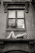 On a Window ledge Brooklyn NY Artistic Nude Photo by Photographer Risen Phoenix