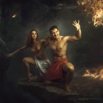 On the Edge Artistic Nude Artwork by Artist Stanislav Star