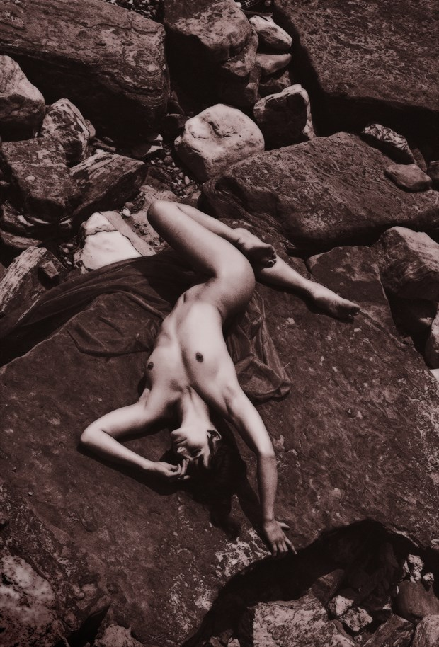 On the rocks Artistic Nude Photo by Photographer Ray Kirby