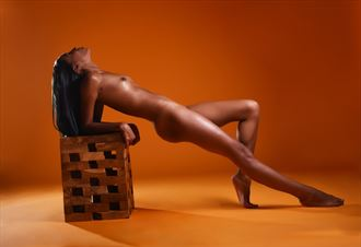 Orange Artistic Nude Photo by Model Aly Jhene