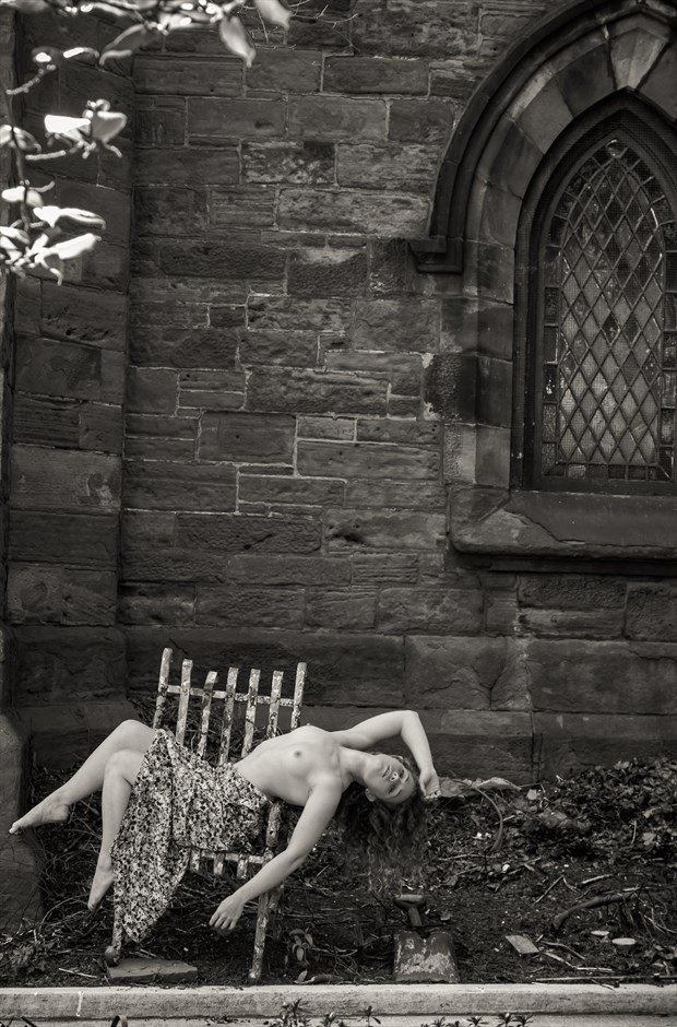Outside a church in Brooklyn NY Artistic Nude Photo by Photographer Risen Phoenix