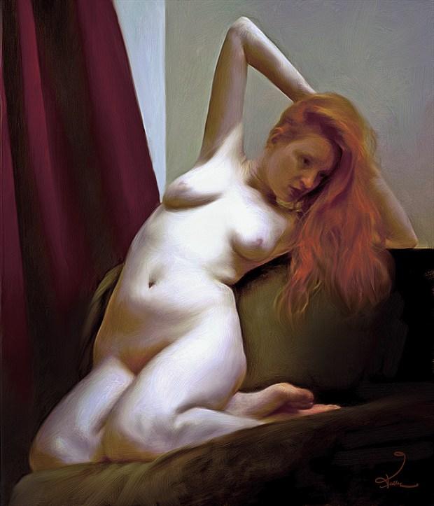 Pale Ruby Artistic Nude Artwork by Artist Van Evan Fuller