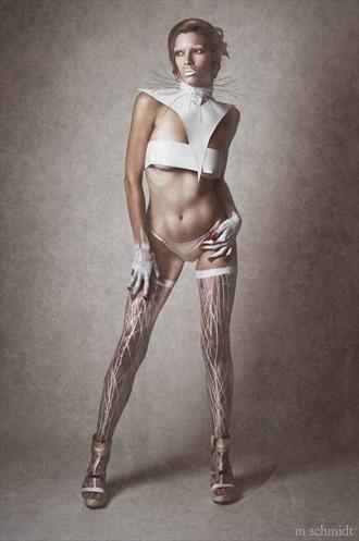 Pantyhose Lingerie Artwork by Model Merrill White
