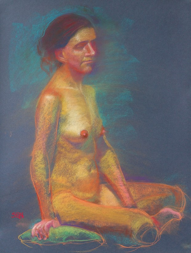 Pastel %231 Painting or Drawing Artwork by Artist FrontStreetFigureDrawing