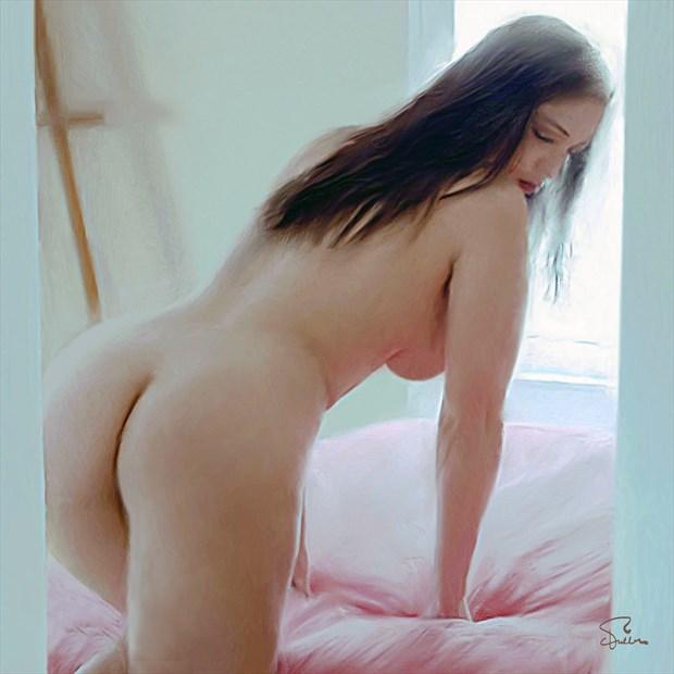 Pastel Morning Artistic Nude Artwork by Artist Van Evan Fuller
