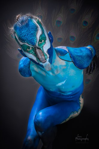 Peacock bodypainting Artistic Nude Photo by Model Lars