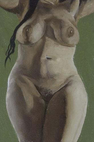 Pearl Drops Barbados Pearl No.10 Artistic Nude Artwork by Artist Chuck Miller
