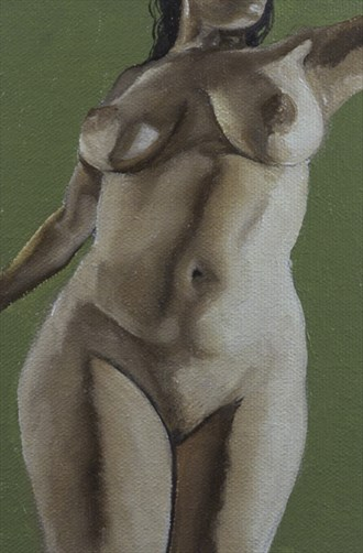 Pearl Drops Barbados Pearl No.17 Artistic Nude Artwork by Artist Chuck Miller