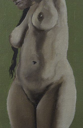 Pearl Drops Barbados Pearl No.7 Artistic Nude Artwork by Artist Chuck Miller