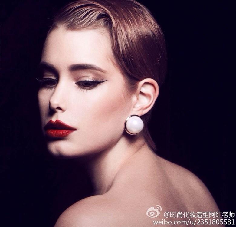 Pearl earring Studio Lighting Photo by Model Torttu Doris