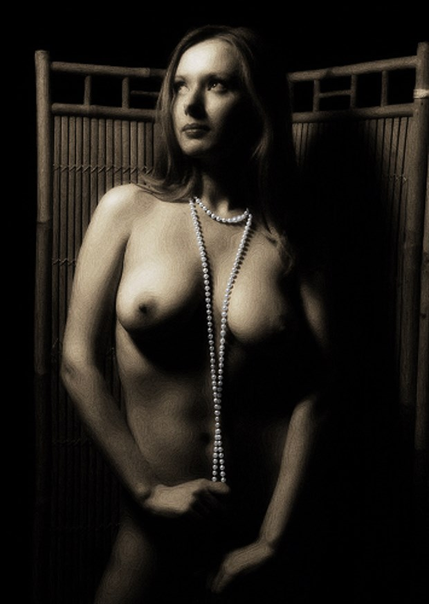 Pearls Artistic Nude Artwork by Photographer Light is Art