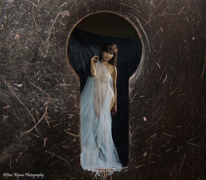 Peeping Thru The Key Hole Artistic Nude Photo by Model Lil Maria