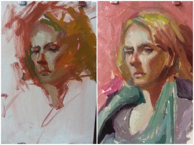 Peggy Portrait Artwork by Artist ShunXie