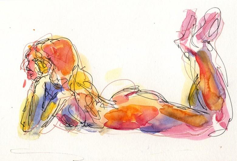 Pensive Artistic Nude Artwork by Model freespirit
