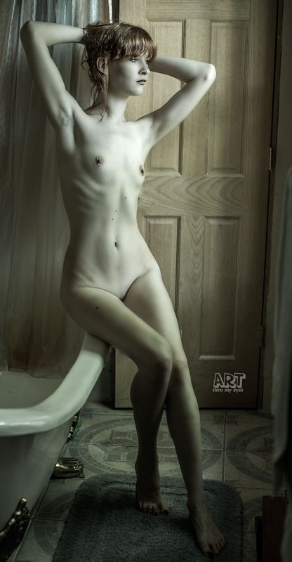Pensive Figure Study Artistic Nude Photo by Model Cameo Michelle