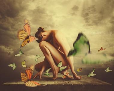 Perch Artistic Nude Photo by Model Shaun Tia