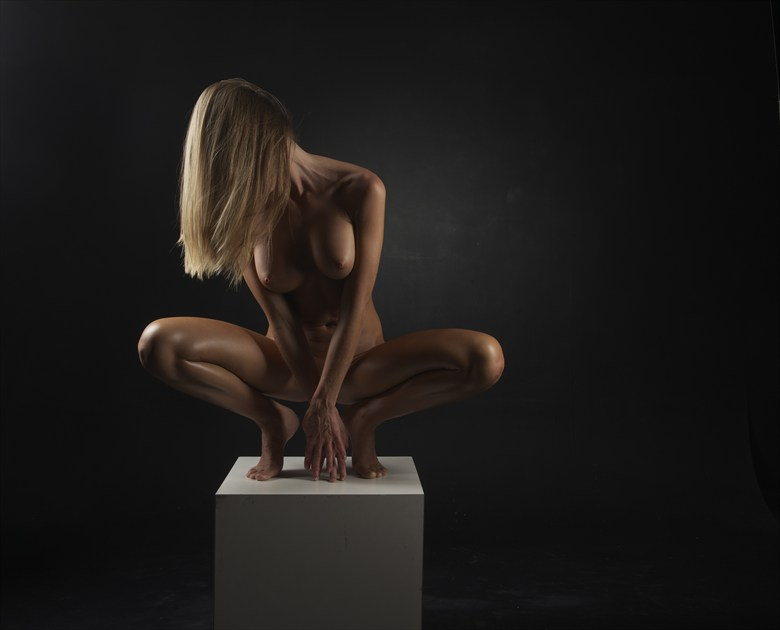 Perched Artistic Nude Photo by Photographer Randall Hobbet