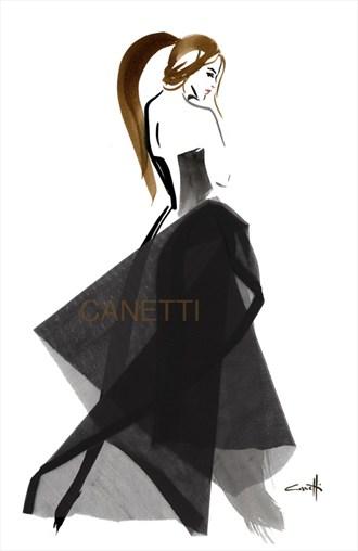 Philomene Silhouette Artwork by Artist Michel Canetti