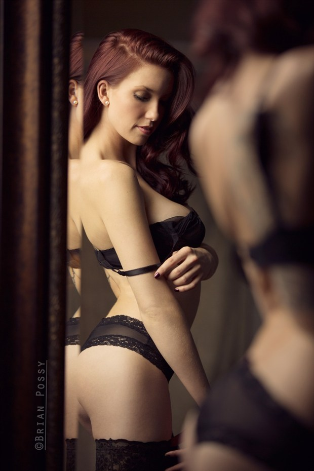 Photo by Brian Possy Lingerie Photo by Model Caitlin Ciara