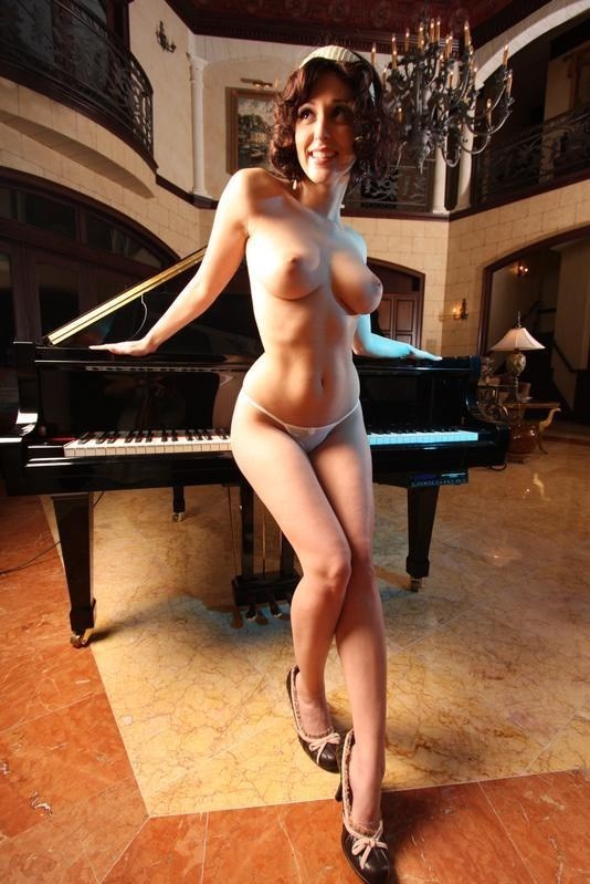 Piano Player Vintage Style Photo by Photographer Naked