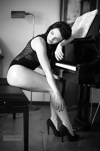 Piano Song Glamour Photo by Model Alice Carroll