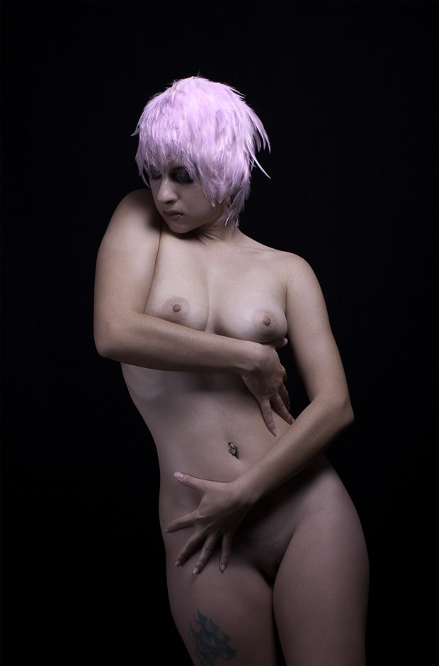 Pink Feather Nude Artistic Nude Photo by Photographer Chris Gursky