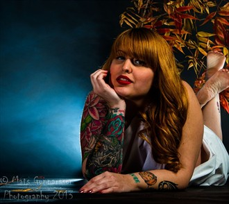 Pinup Portrait Artwork by Photographer Mats