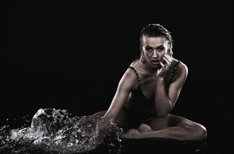 Playing with water Lingerie Photo by Photographer Larsnphoto