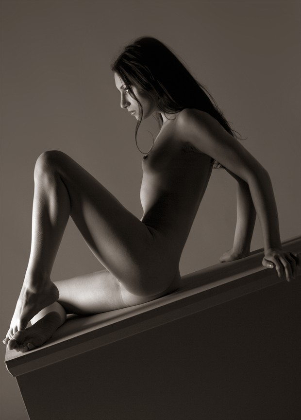 Plinth Artistic Nude Photo by Photographer Mick Waghorne