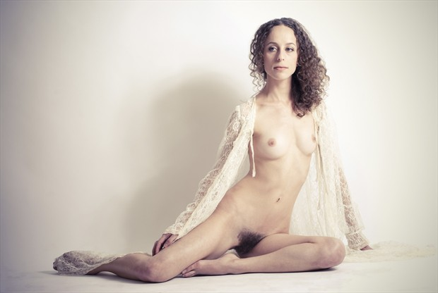Portrait in Lace Artistic Nude Photo by Model Mauvais