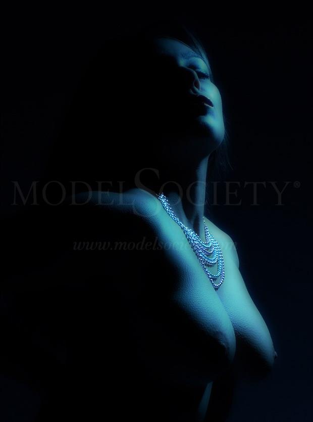 Portrait in blue Artistic Nude Photo by Photographer Light is Art