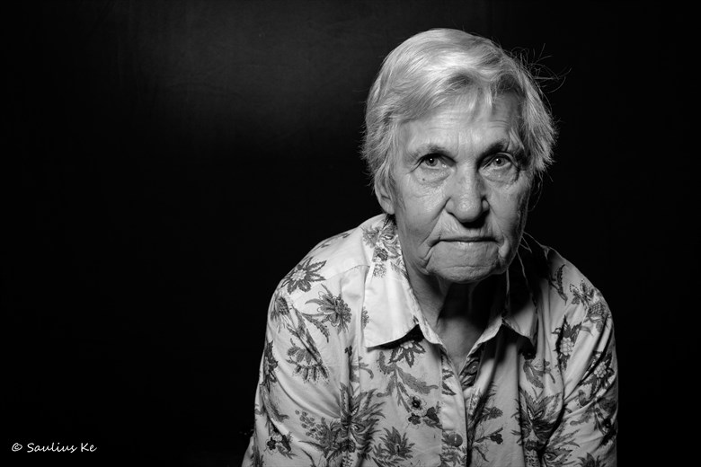 Portrait of a Gulag Survivor Studio Lighting Photo by Photographer sauliuske