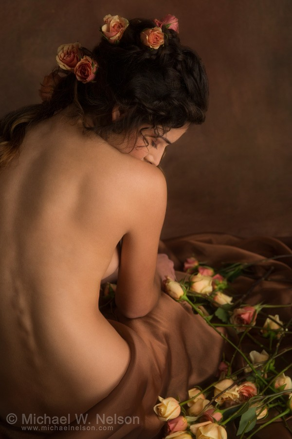 Portrait of young woman Artistic Nude Photo by Photographer Michael Nelson