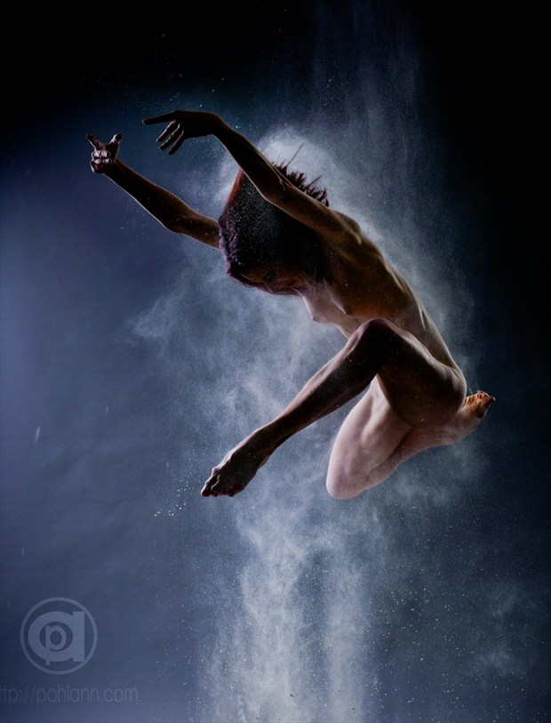 Powder jumps by Andr%C3%A9 Pohlann Artistic Nude Photo by Model Just Ana