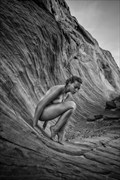 Precarious Surf Artistic Nude Photo by Model Riccella