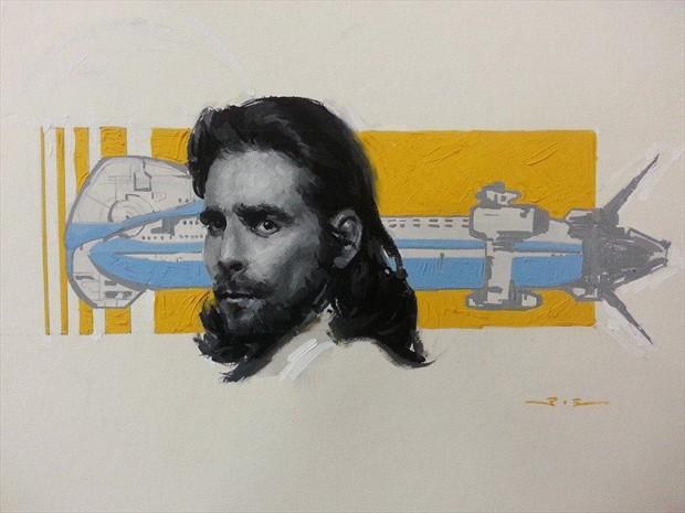 President Baltar (Fan art of BattlestartGalactica) Portrait Artwork by Artist ShunXie